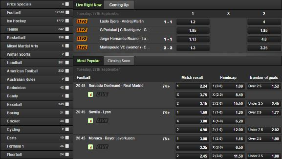 betsafe betting types